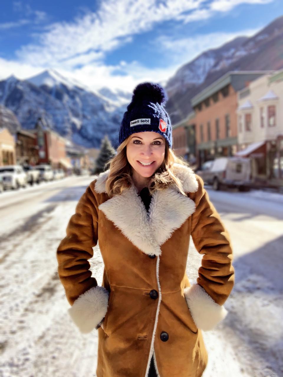 marla meridith food blogger skier