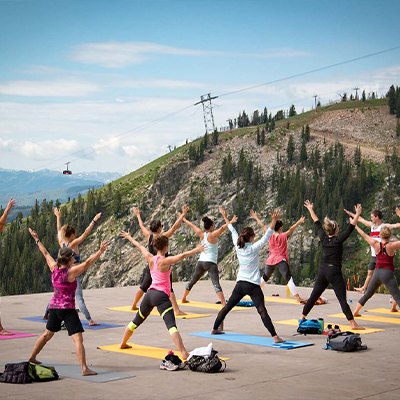 yoga jackson hole mountain